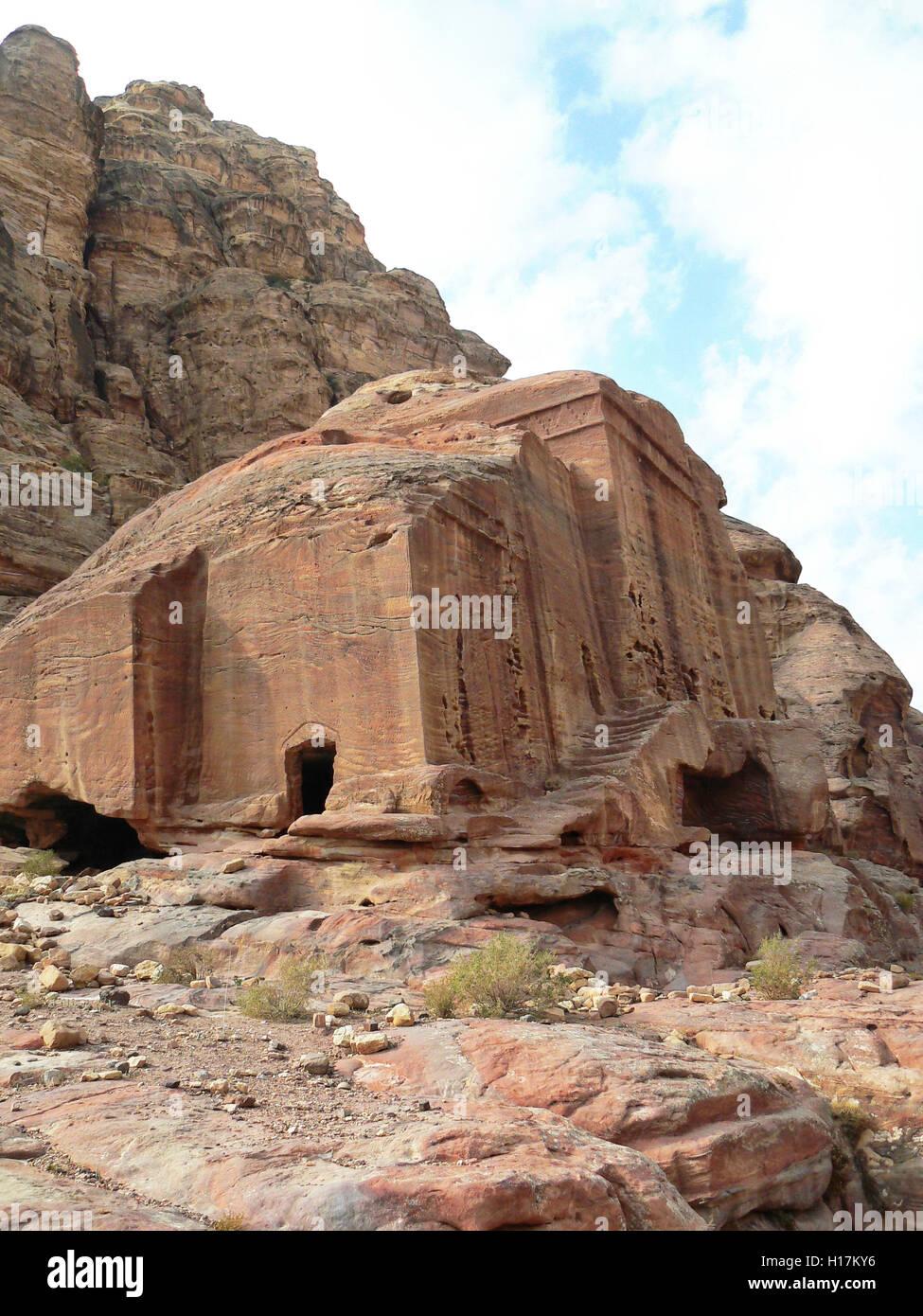 Tombs of Petra, Jordan - Stock Image