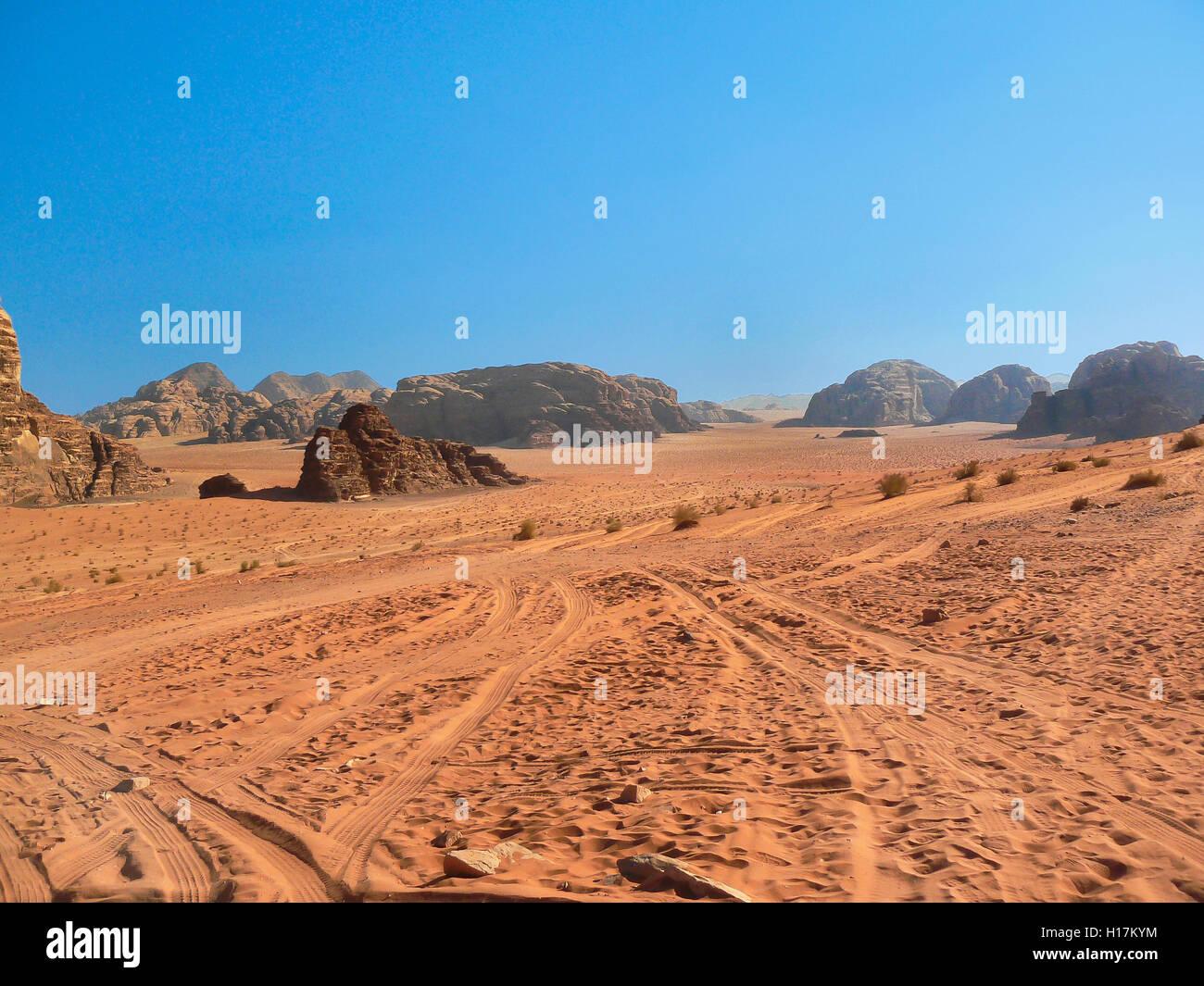 Desert of Wadi Rum, Jordan - Stock Image