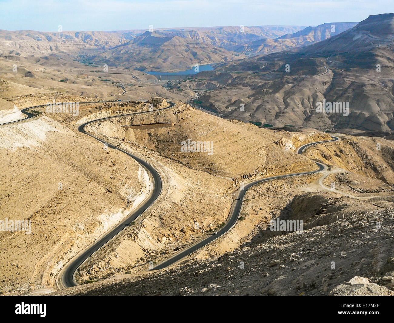 Wadi Mujib, Kings Highway in Jordan - Stock Image