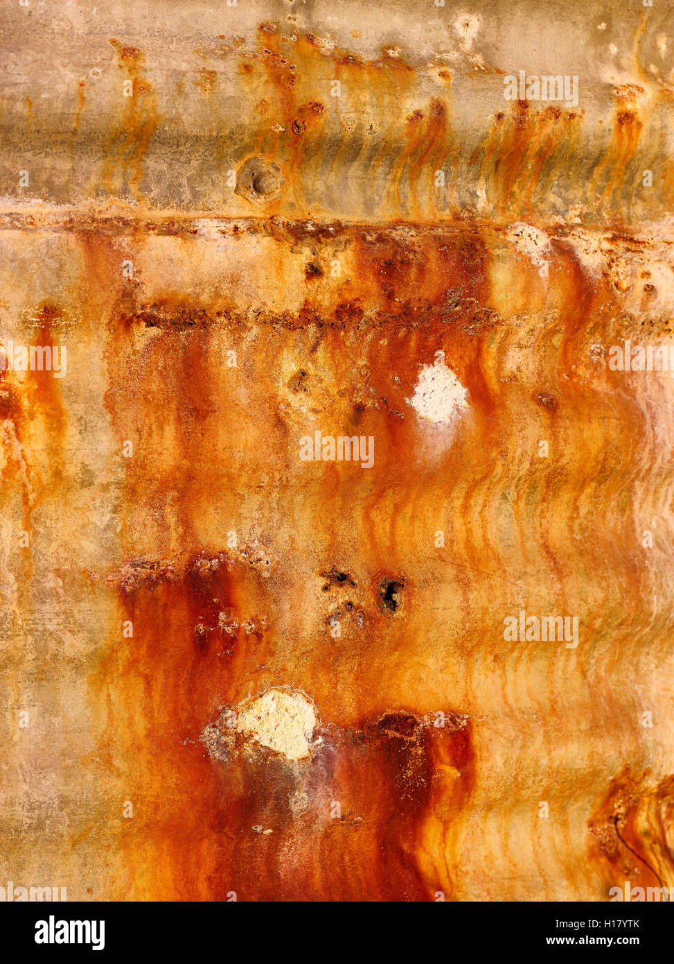 Rusting water tank outback New South Wales - Stock Image