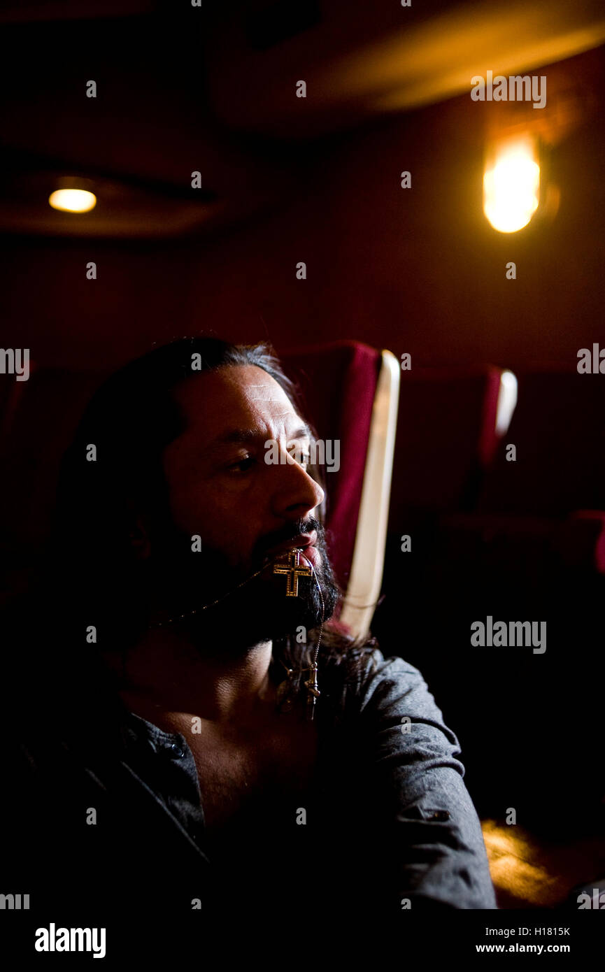 Rafael Amargo, Spanish dancer. La Latina Theater, Madrid. dance bailaor flamenco baile bailaor spain - Stock Image