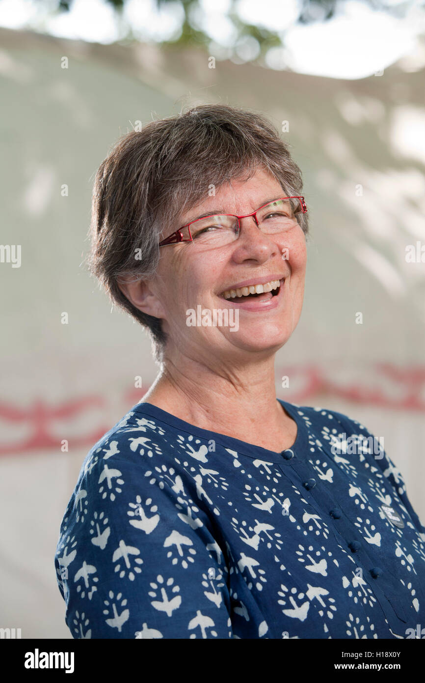 Candace Savage, the Canadian nature and science writer, at the Edinburgh International Book Festival. Edinburgh, - Stock Image
