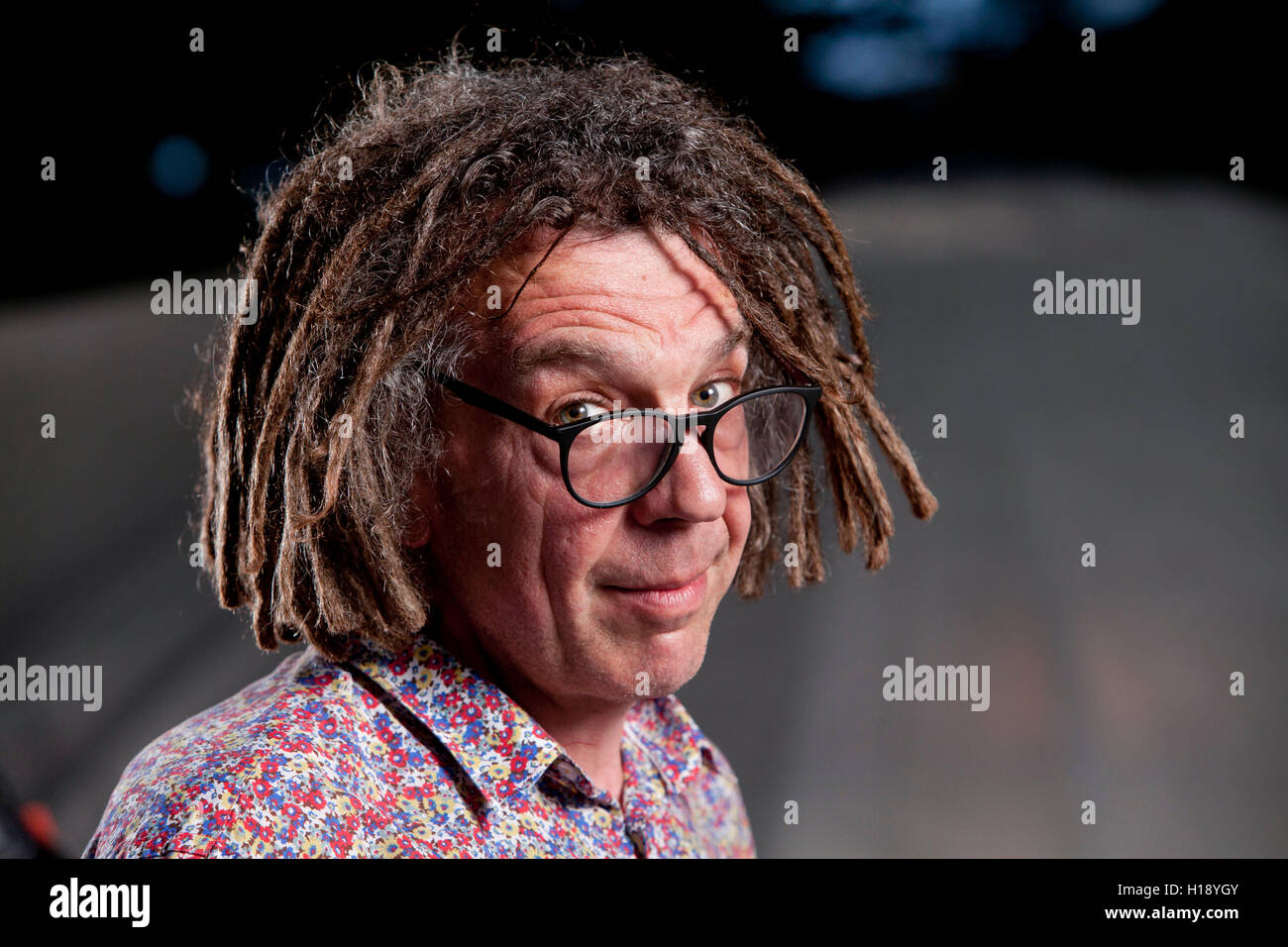 David Goldblatt, the sports writer, journalist and author, at the Edinburgh International Book Festival. Edinburgh, - Stock Image