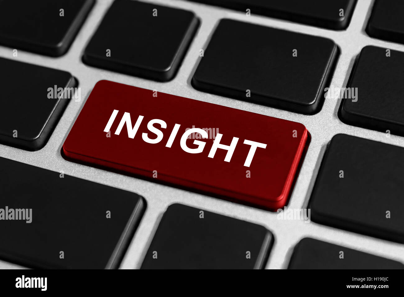 insight button on keyboard, business concept Stock Photo