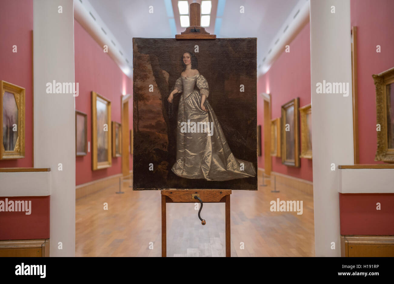Portrait of an Unknown Lady 1650-5 by Joan Carlile (1606-1679), Tate Britain recent acquisition 2016. - Stock Image
