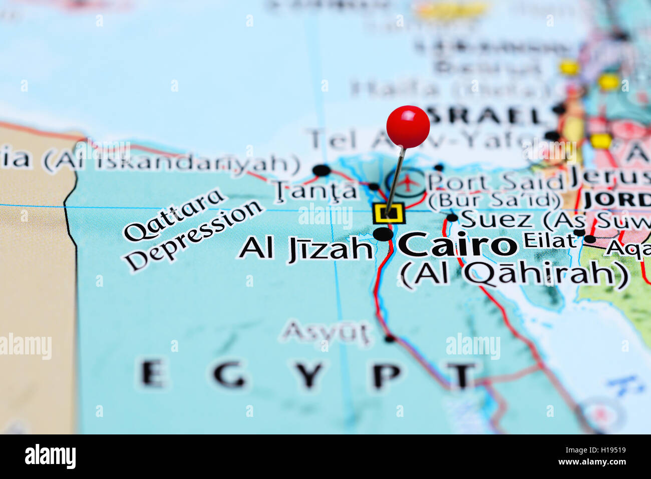 Cairo pinned on a map of Egypt Stock Photo 121288757 Alamy
