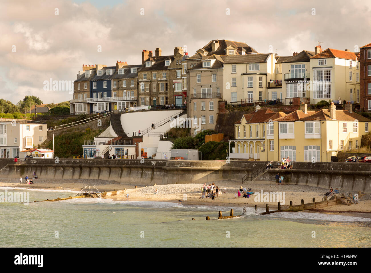 Cromer beach and seafront, Cromer, north Norfolk coast, Norfolk, England UK - Stock Image