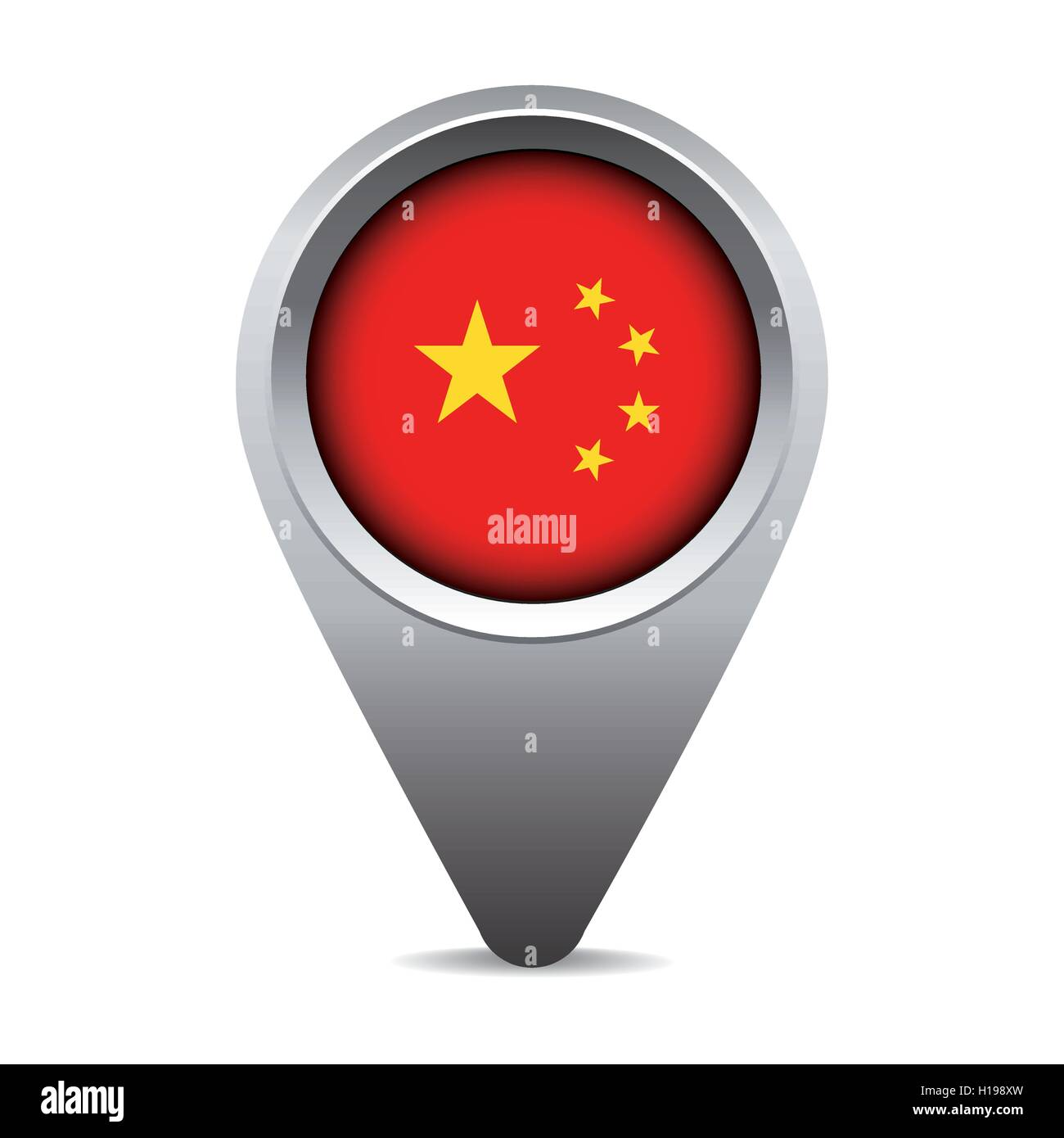 China flag pointer vector - Stock Image