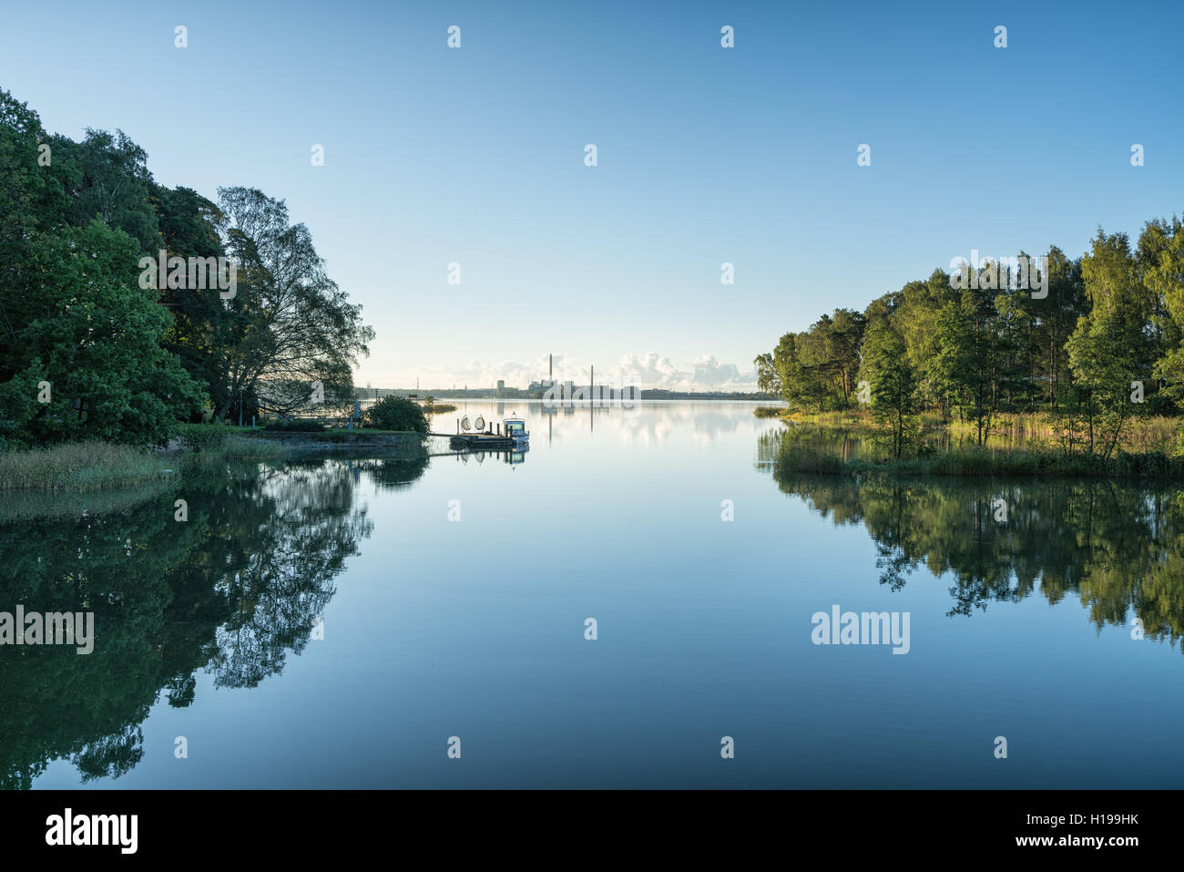 Calm morning in Helsinki, Finland, Europe, EU - Stock Image