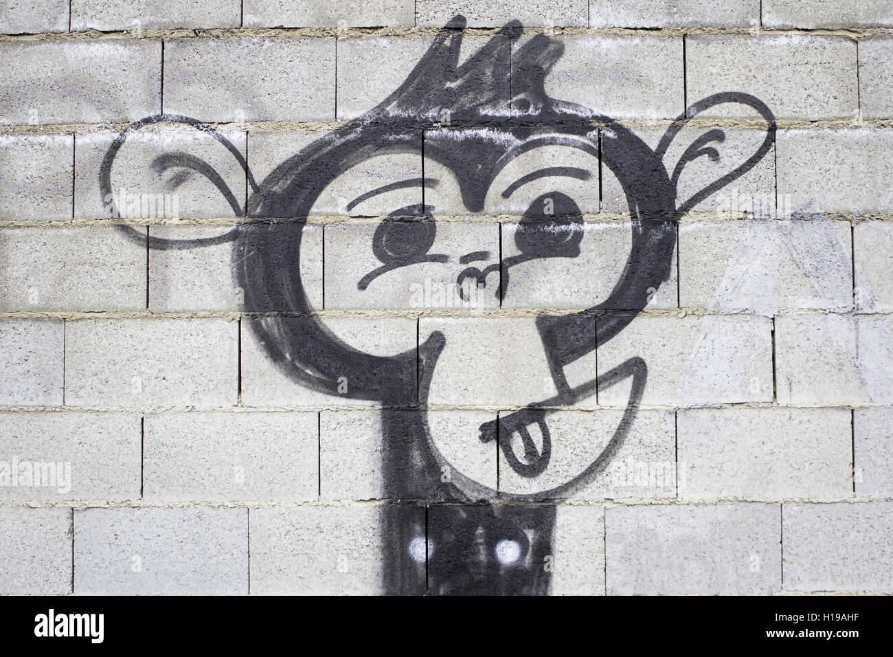 Graffiti Wall Urban Ape Animals