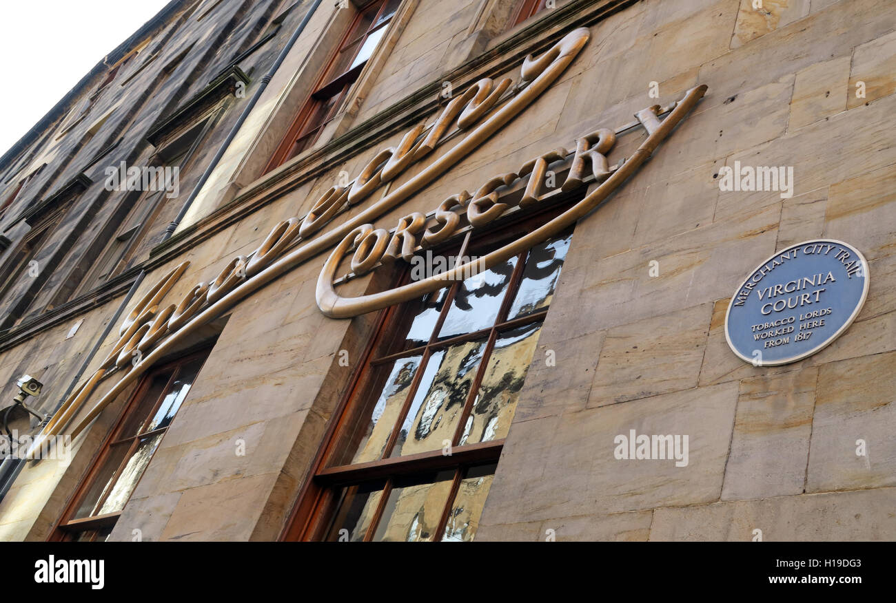 The Jacobean Corsetry building in Glasgow's Merchant City, Virginia Street, Scotland, UK - Stock Image