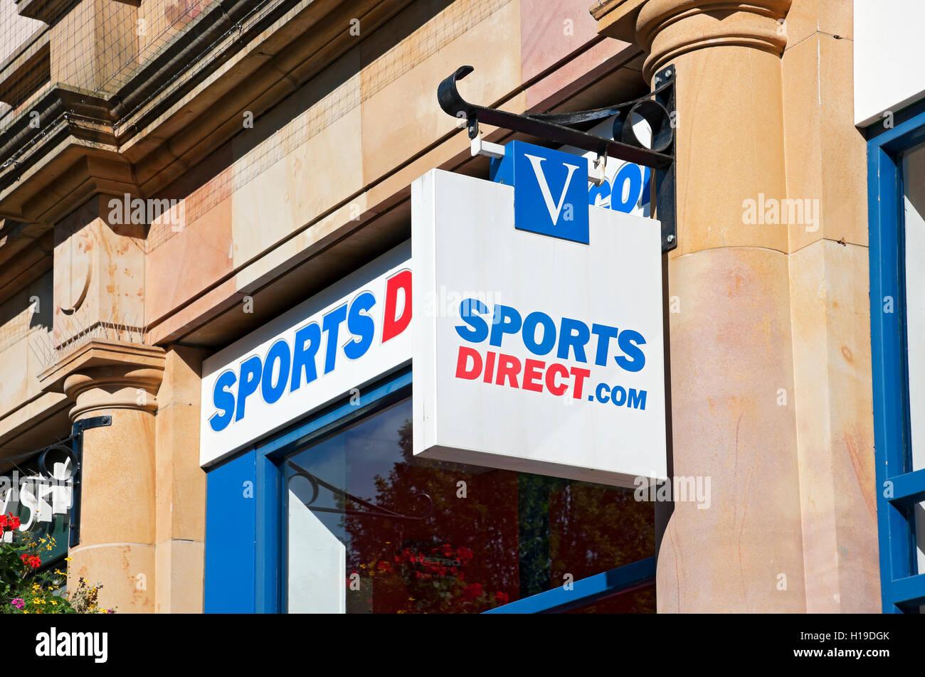 c99e469d95 Sports Direct sign Harrogate North Yorkshire England UK United Kingdom GB  Great Britain - Stock Image
