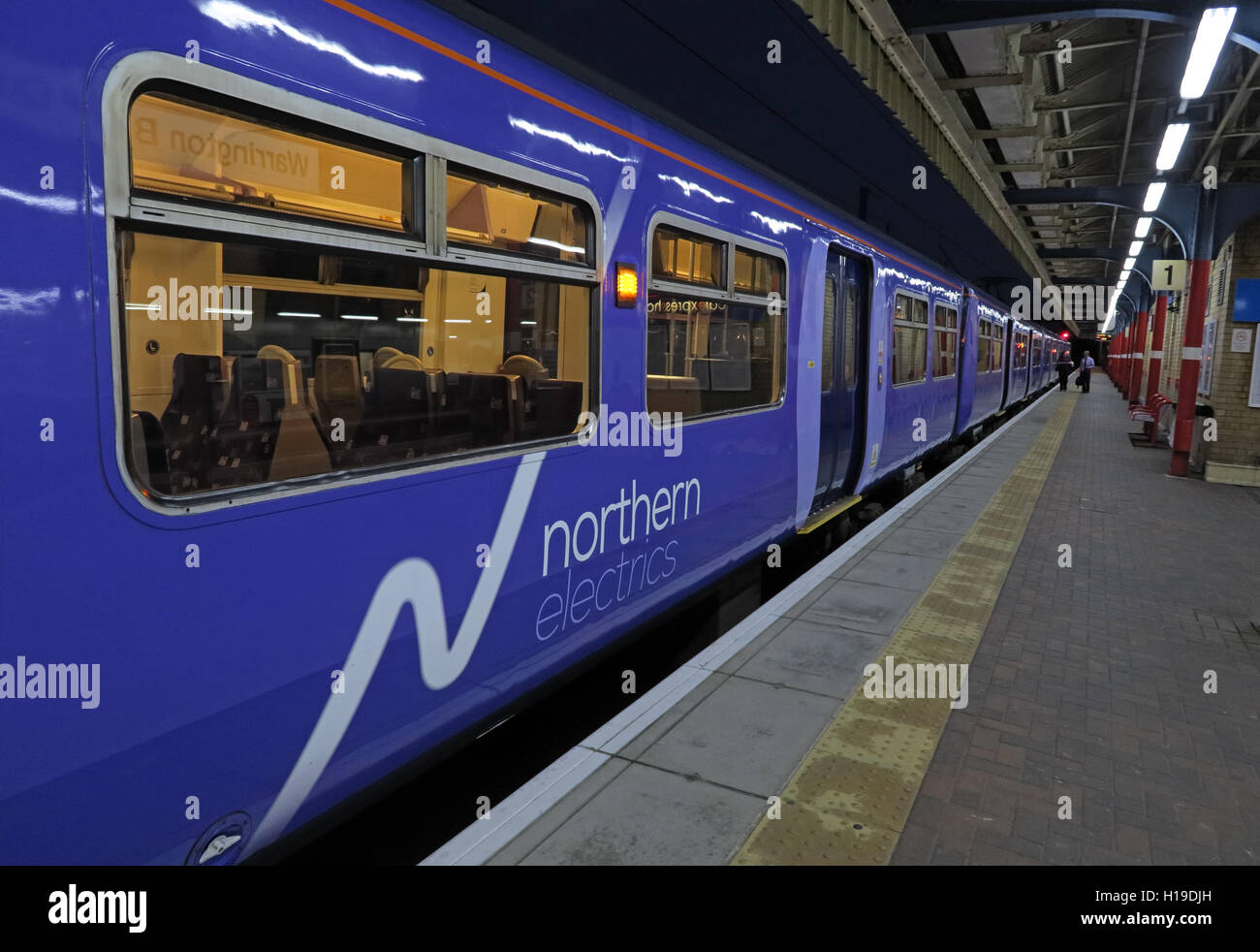 Northern Electrics, at Warrington Bank Quay Railway Station, Cheshire, England UK - Stock Image