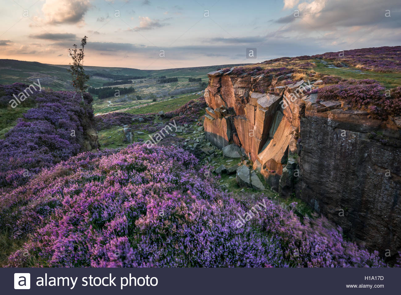 Burbage Rocks Quarry - Stock Image