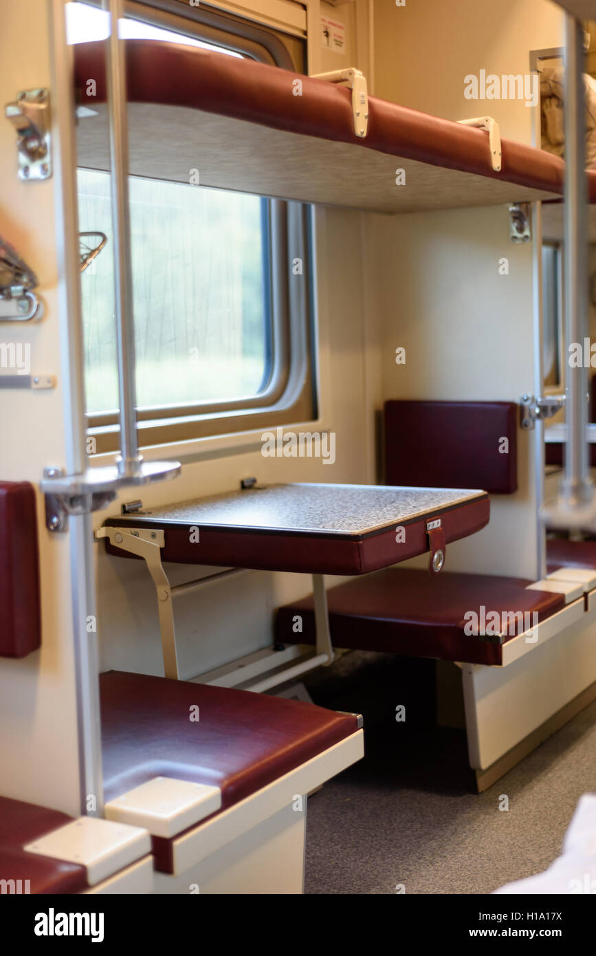 Swell Interior Of A Russian Train With Comfortable Bench And Ocoug Best Dining Table And Chair Ideas Images Ocougorg
