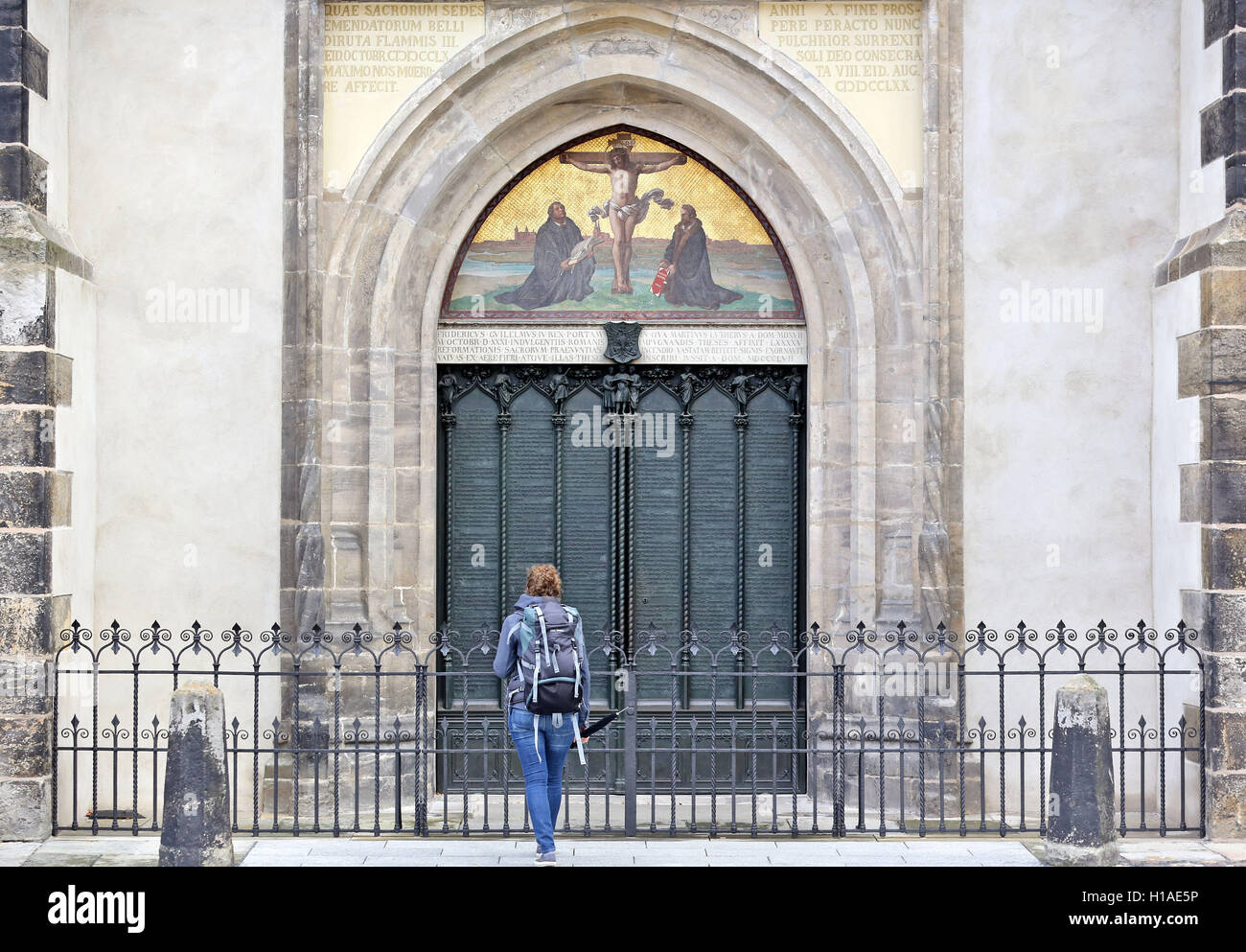 Lutherstadt Wittenberg Germany. 20th Sep 2016. The door to the All Saints & 95 Theses Stock Photos u0026 95 Theses Stock Images - Alamy
