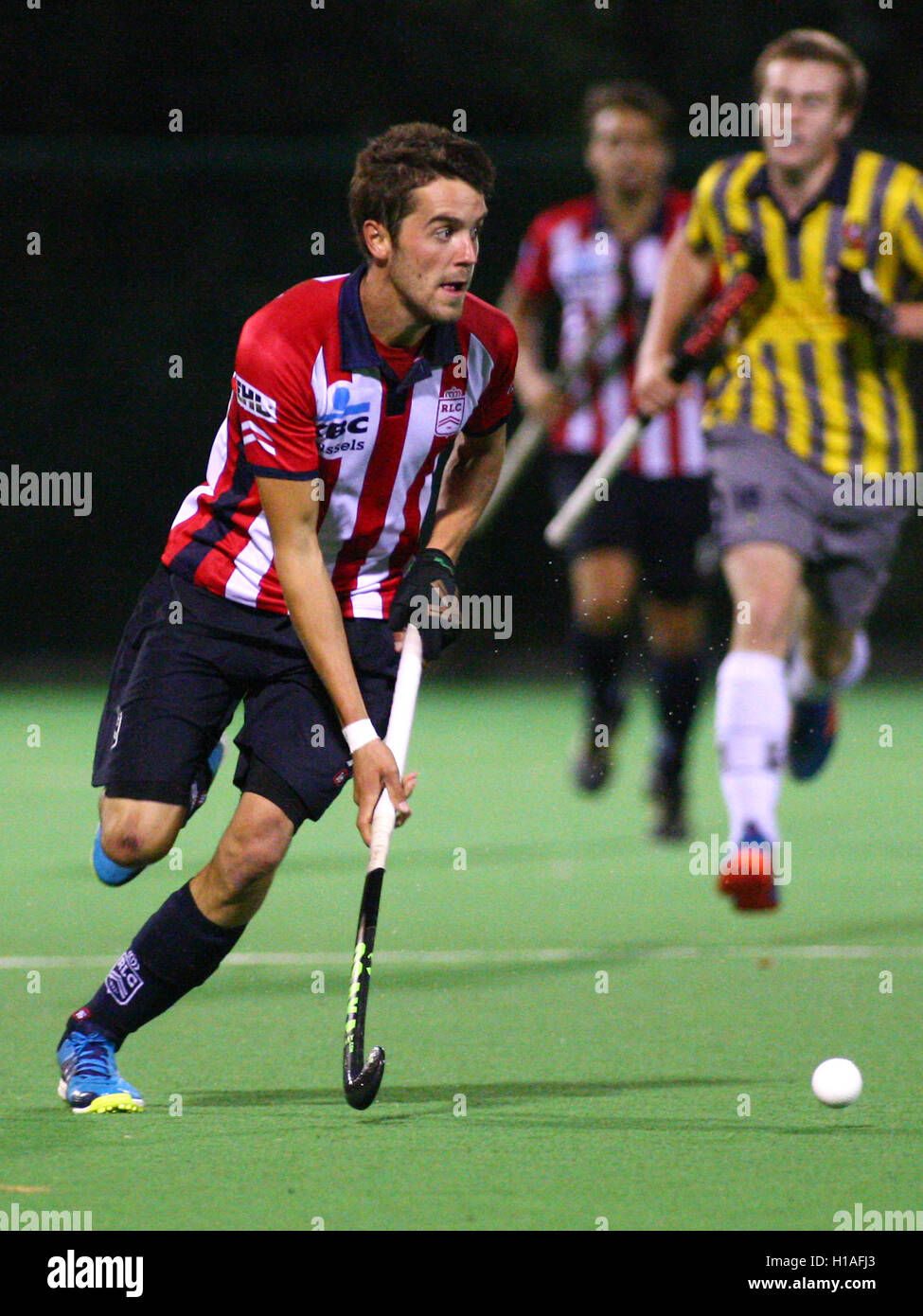 Uccle, Belgium 22.09.2016 Honor Men National League: Arthur Vrdussen in game action during the match Leopold-Wellington - Stock Image