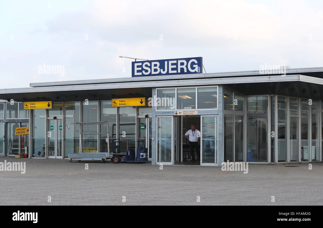 Esbjerg, Denmark. 21st Sep, 2016. The arrival area of the airport in Esbjerg, Denmark, 21 September 2016.PHOTO: - Stock Image
