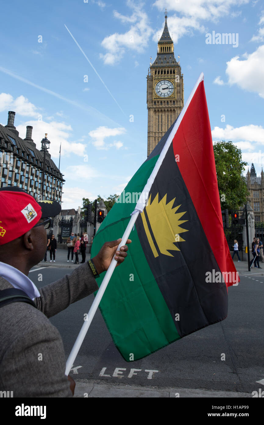 Biafra flag stock photos biafra flag stock images alamy representatives of the uks biafran community protest thecheapjerseys Image collections