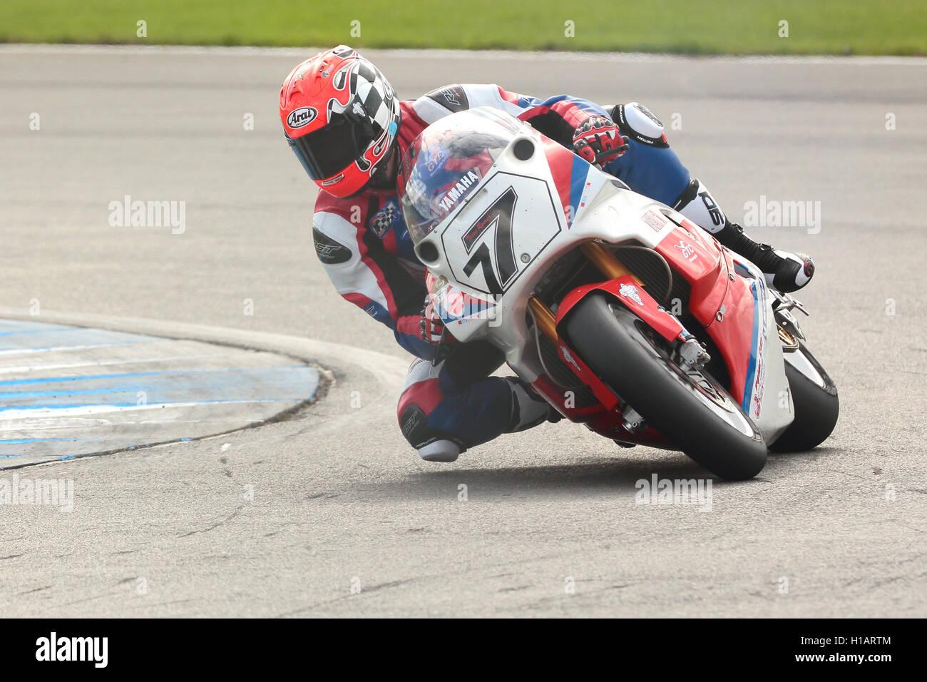 Donington Park, Derbyshire, UK. 23rd September 2016. Ex-Grand Prix, World Superbikes and British Superbikes rider - Stock Image