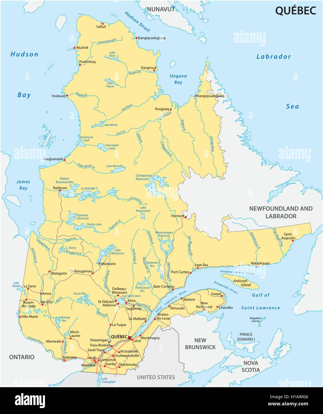 Quebec Map Stock Photos Quebec Map Stock Images Alamy