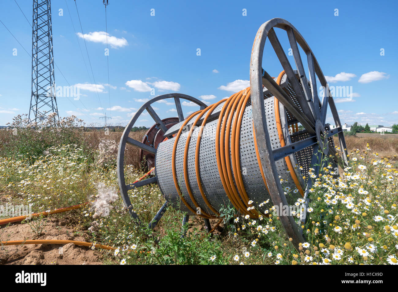 Cable reel - Stock Image