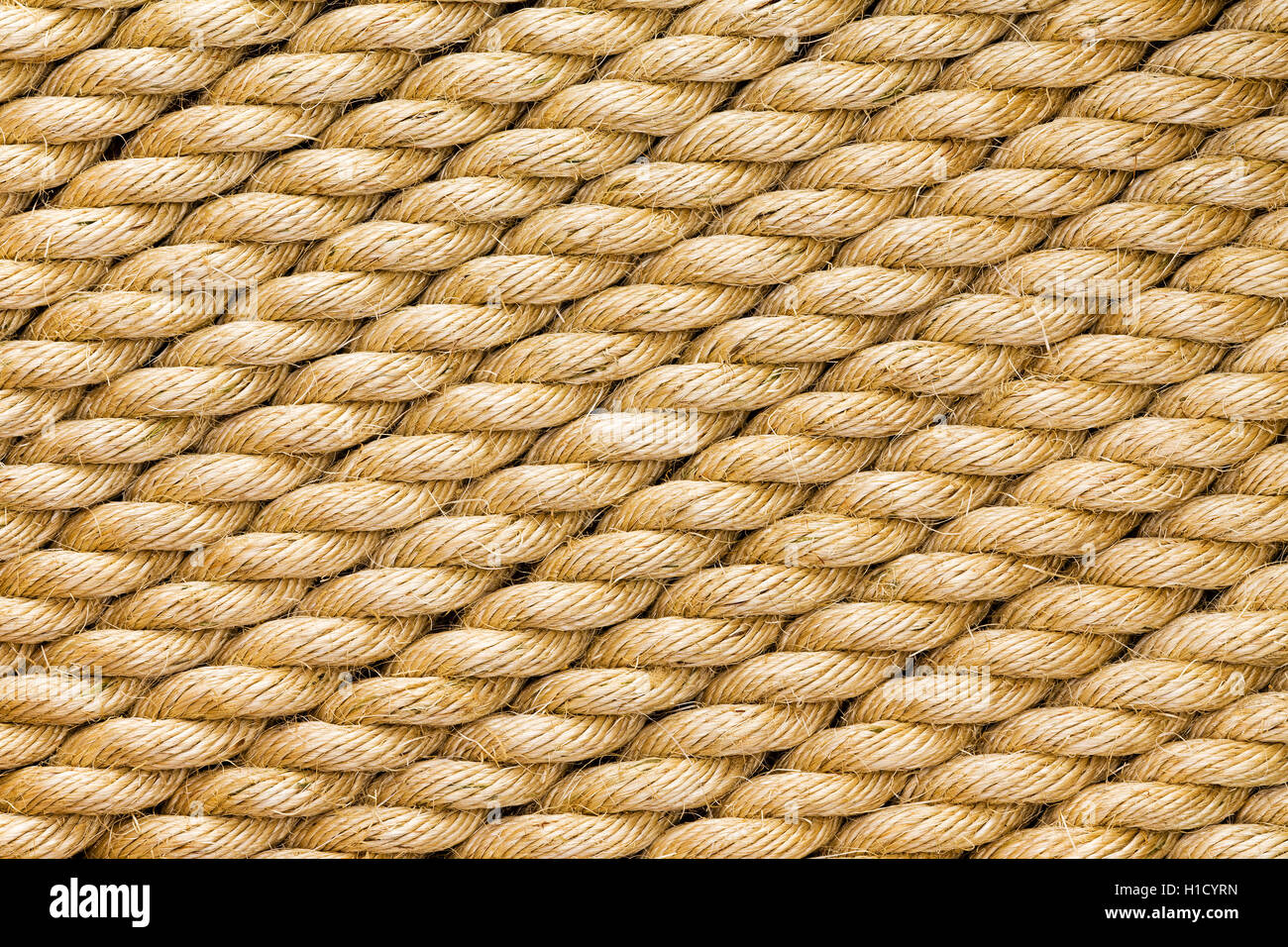 Diagonal Strands Of A New Thick Sisal And Hemp Rope With Twisted Stock Photo Alamy