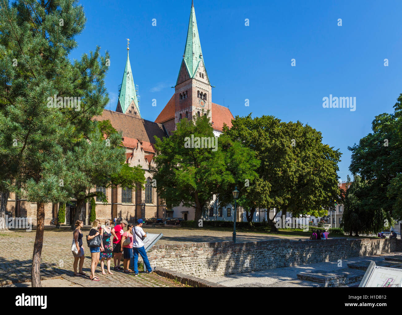 The Cathedral (Dom) in Augsburg, Bavaria, Germany - Stock Image