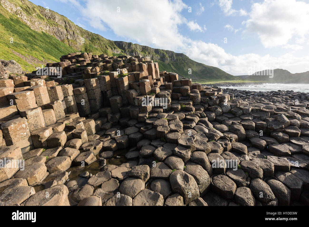 Port Ganny at Giant's Causeway, Bushmills, County Antrim, Northern Ireland, UK - Stock Image