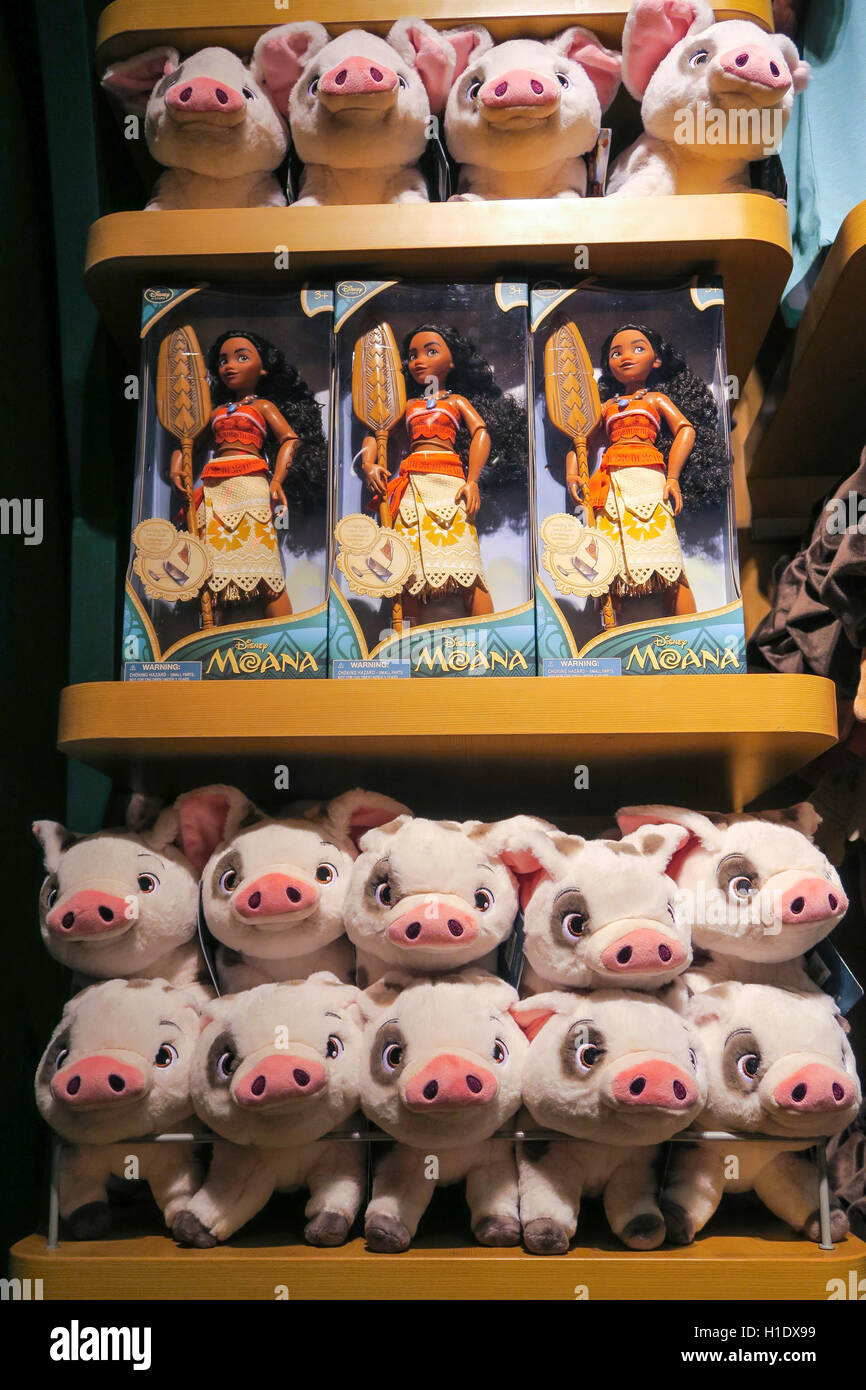 Moana Character Merchandise Disney Store Interior Times Square
