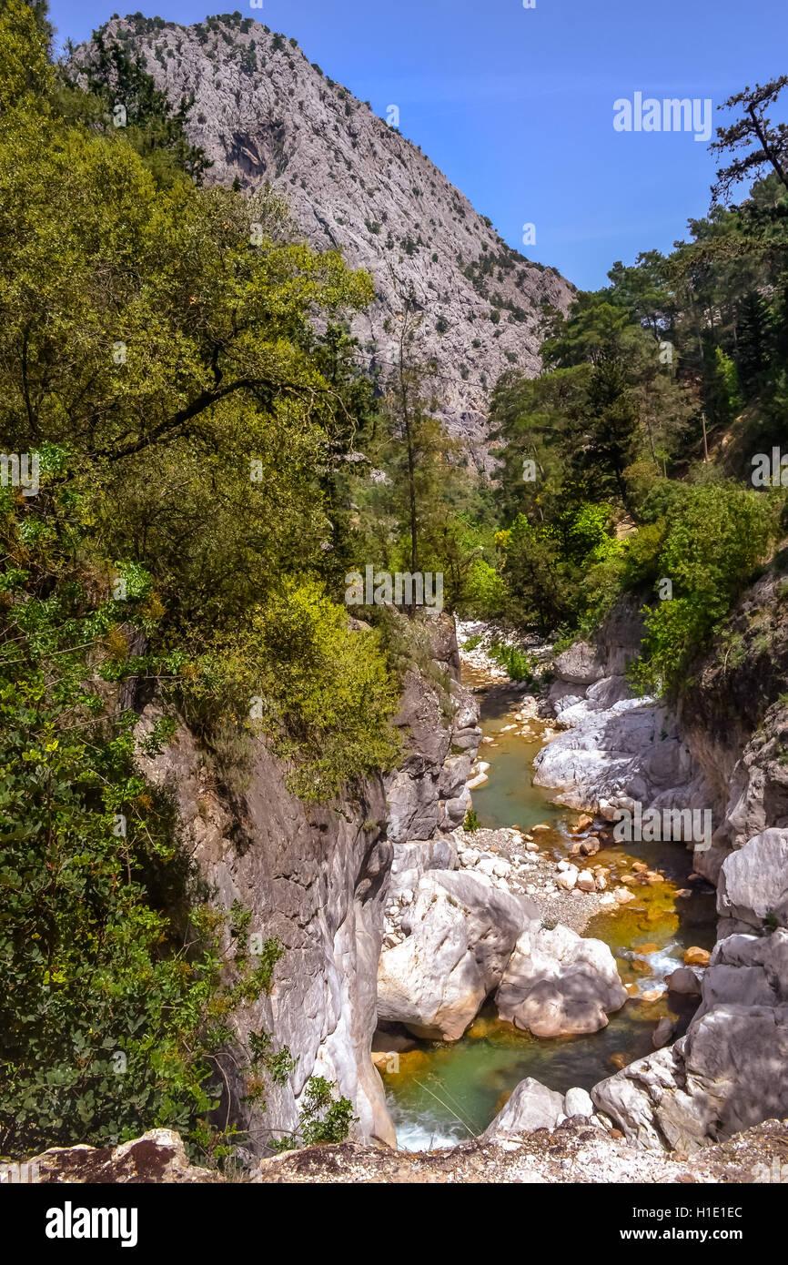 Kemer, turkey, landscape, nature, safari, travel, nature, waterfall, mountains, forest - Stock Image