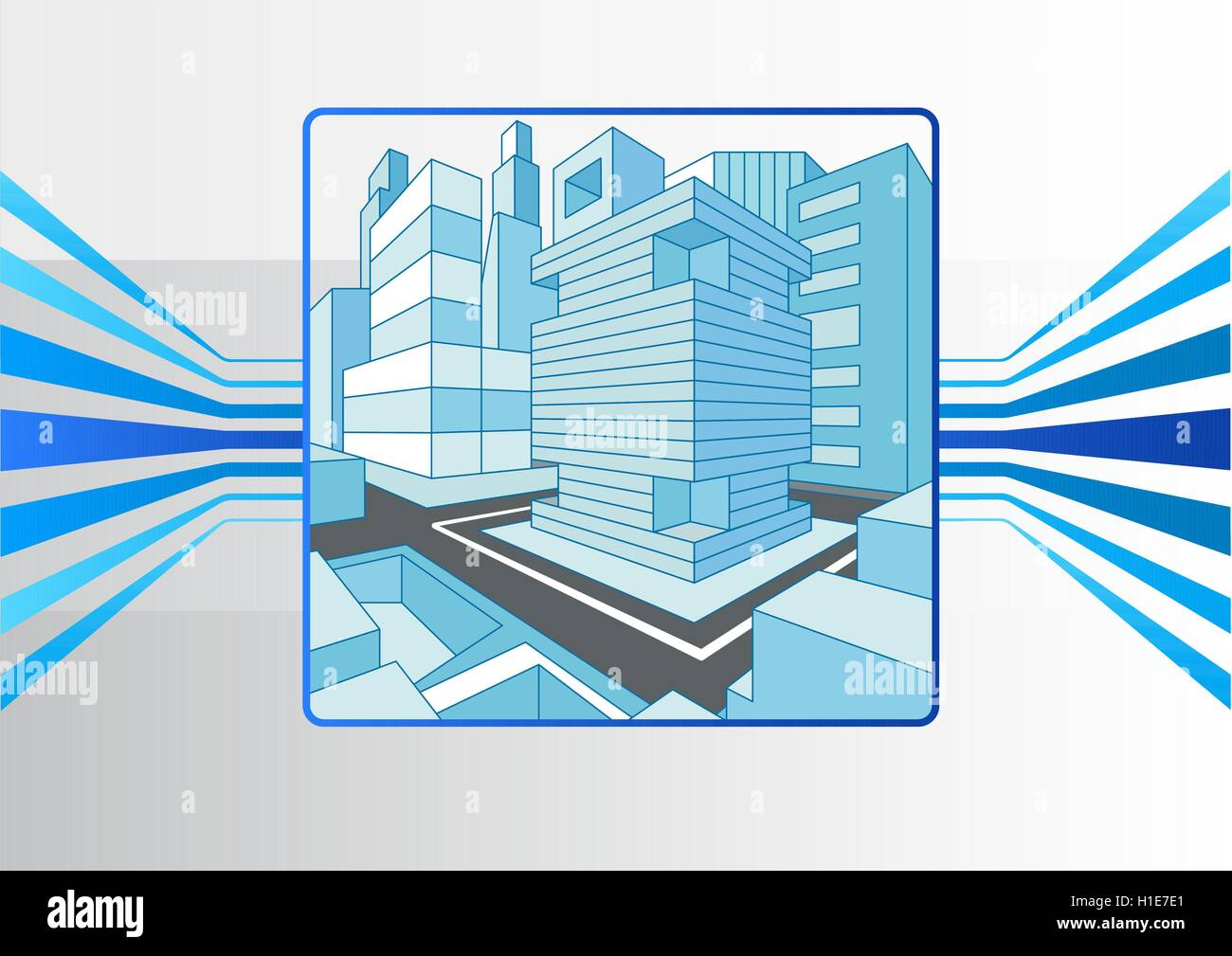 Smart city and IOT concept as vector illustration - Stock Vector