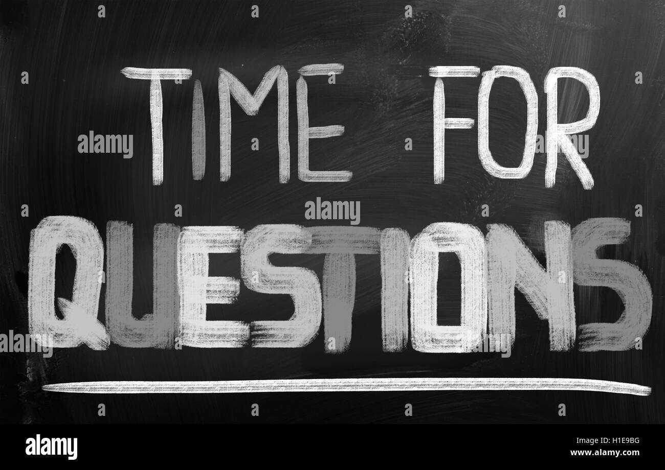 Time For Questions Concept - Stock Image