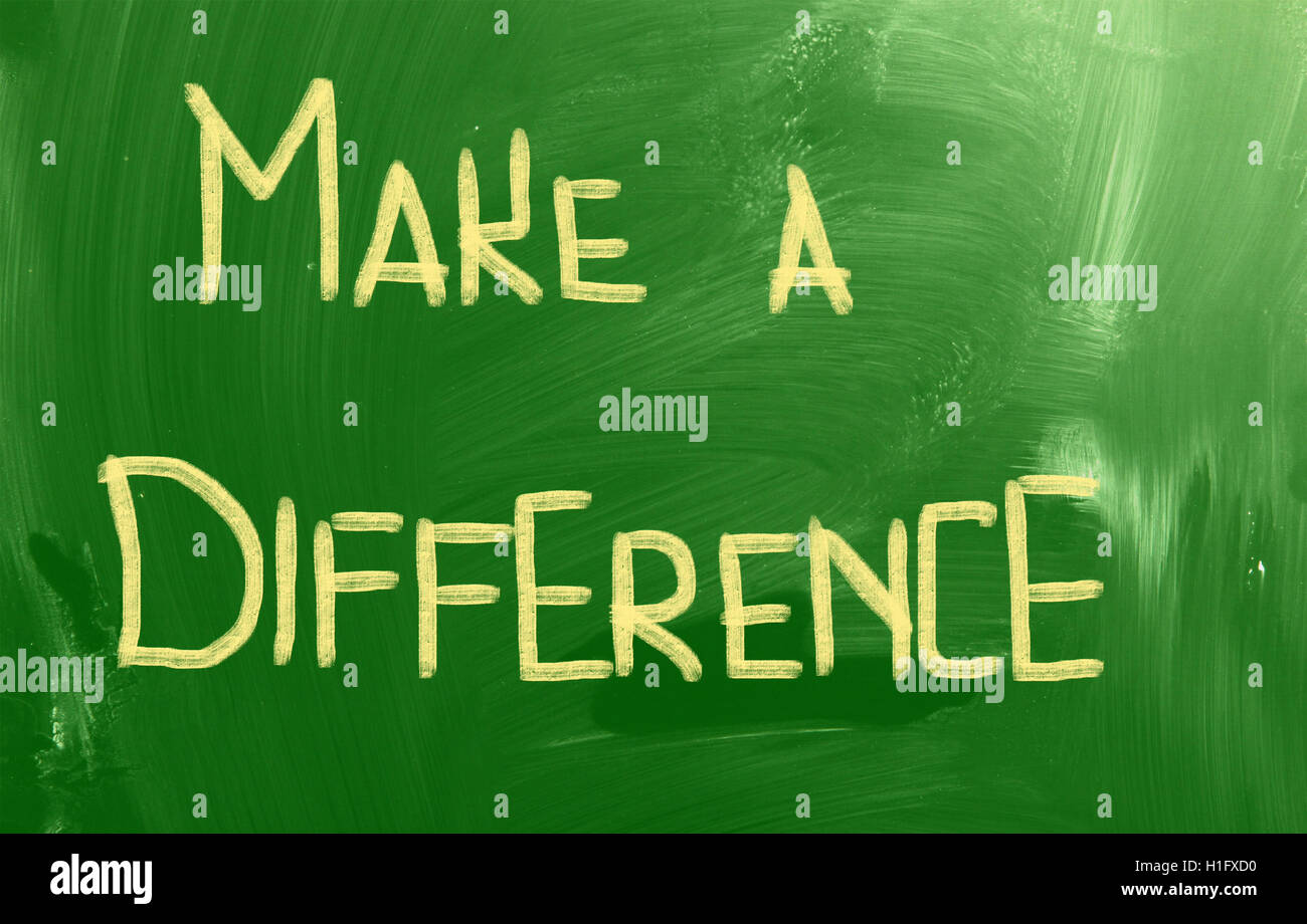 Make A Difference Concept - Stock Image