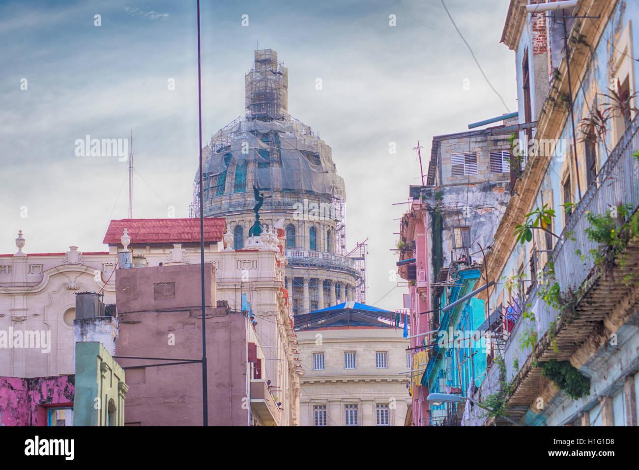 Neoclassical Buildings Of Havana Stock Photos & Neoclassical