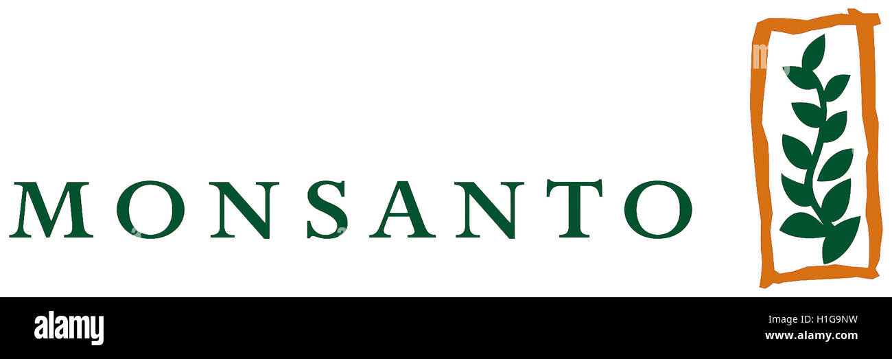 Logo of the American multinational agrochemical and biotechnology company Monsanto with seat St. Louis in the Missouri - Stock Image