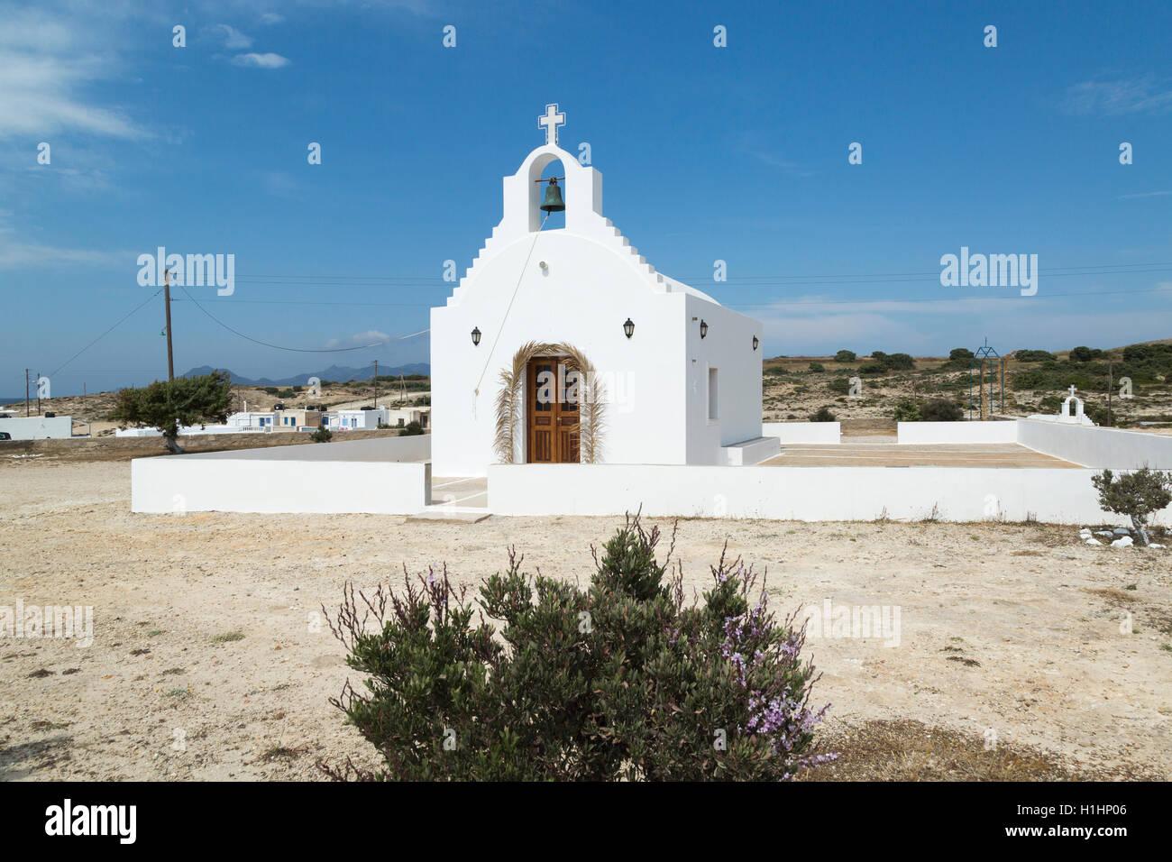 Church in Agios Konstantinos on the island of Milos Greece - Stock Image