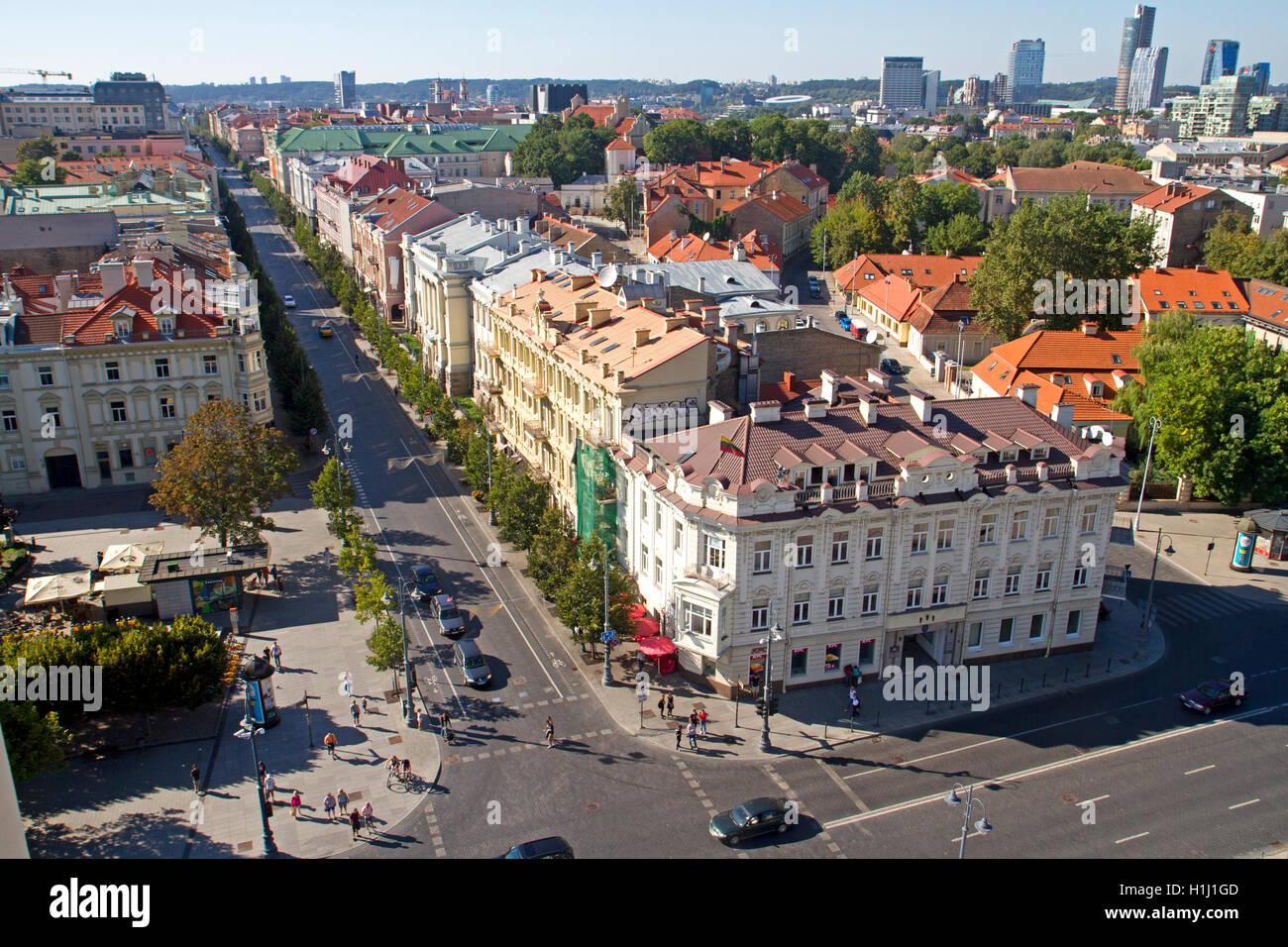 Gedimino Avenue in Vilnius - Stock Image