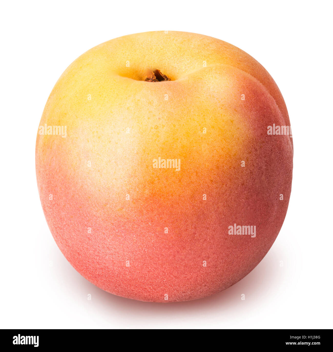 ripe apricot isolated on a white background clipping path - Stock Image