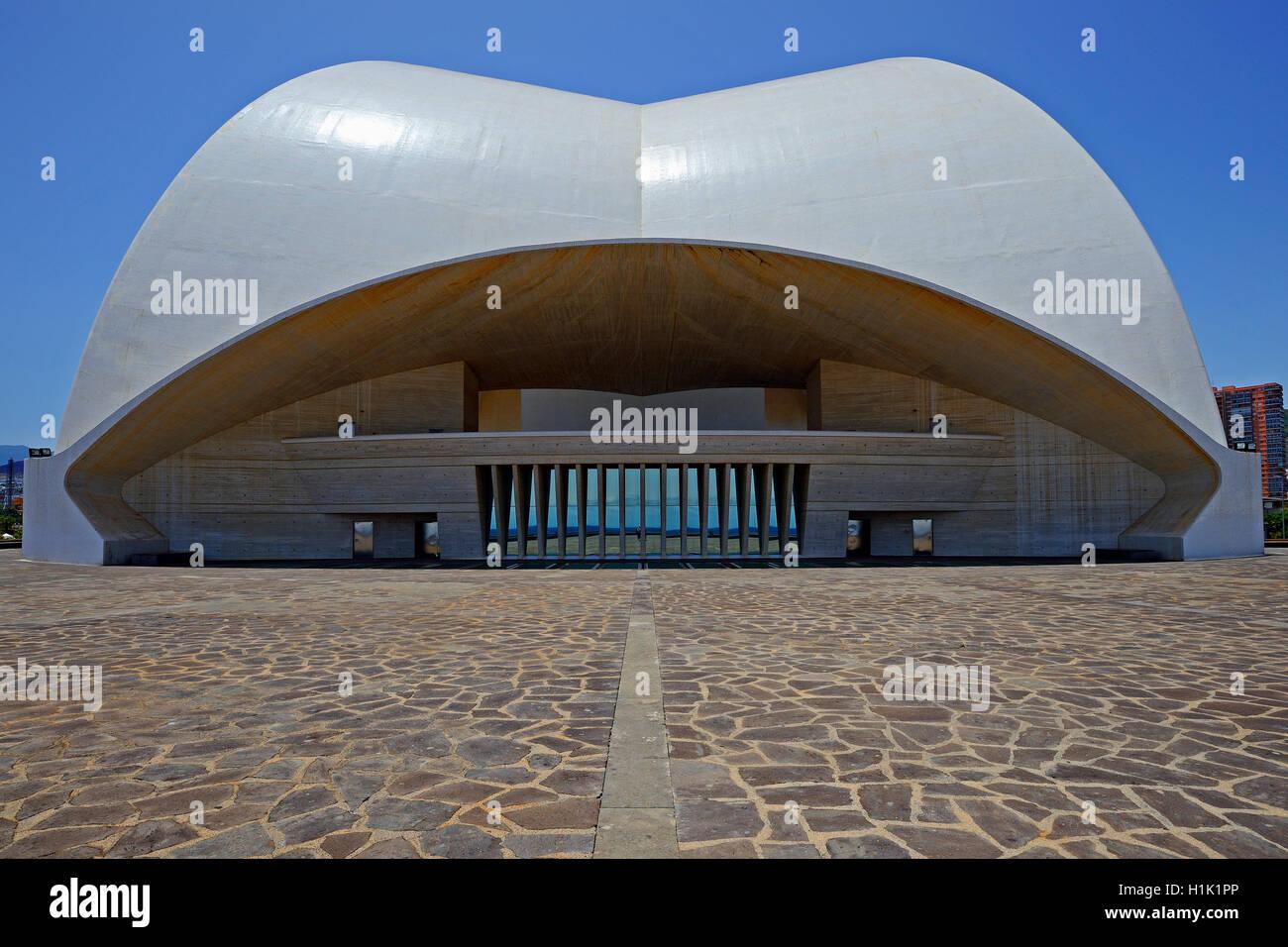 Auditorio de Tenerife, Architekt Santiago Calatrava, Santa Cruz de Tenerife, Teneriffa, Kanarische Inseln, Spanien - Stock Image