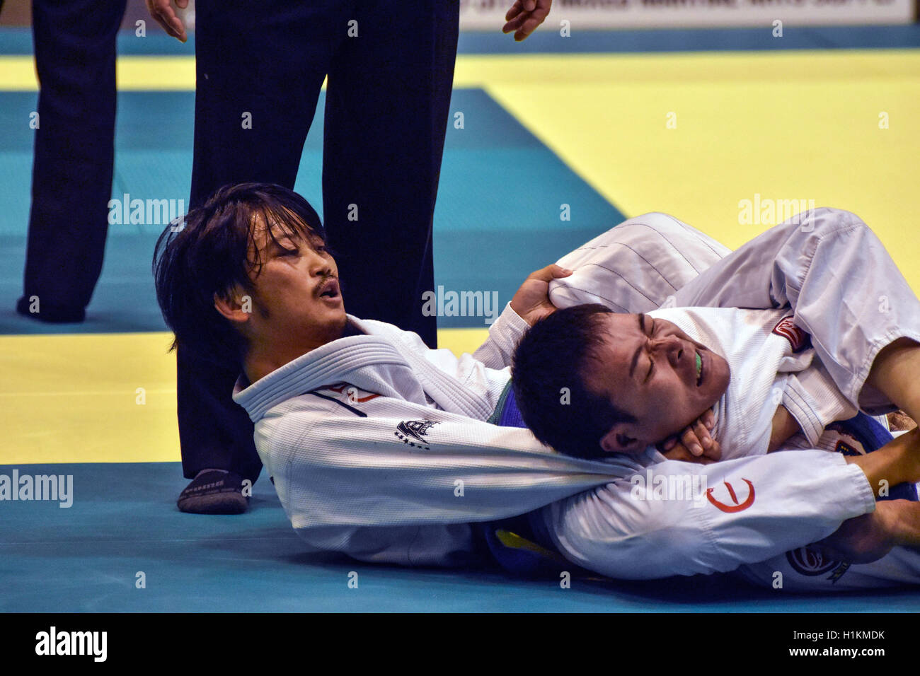 International Brazilian Jiu Jitsu Contest - Stock Image