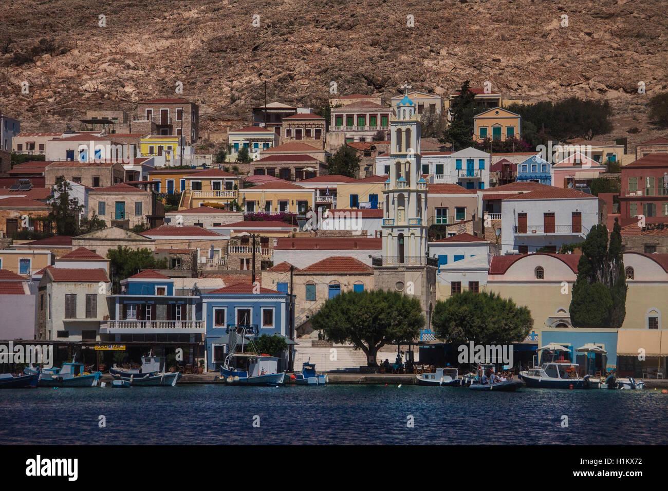 Halki Harbour Greece - Stock Image