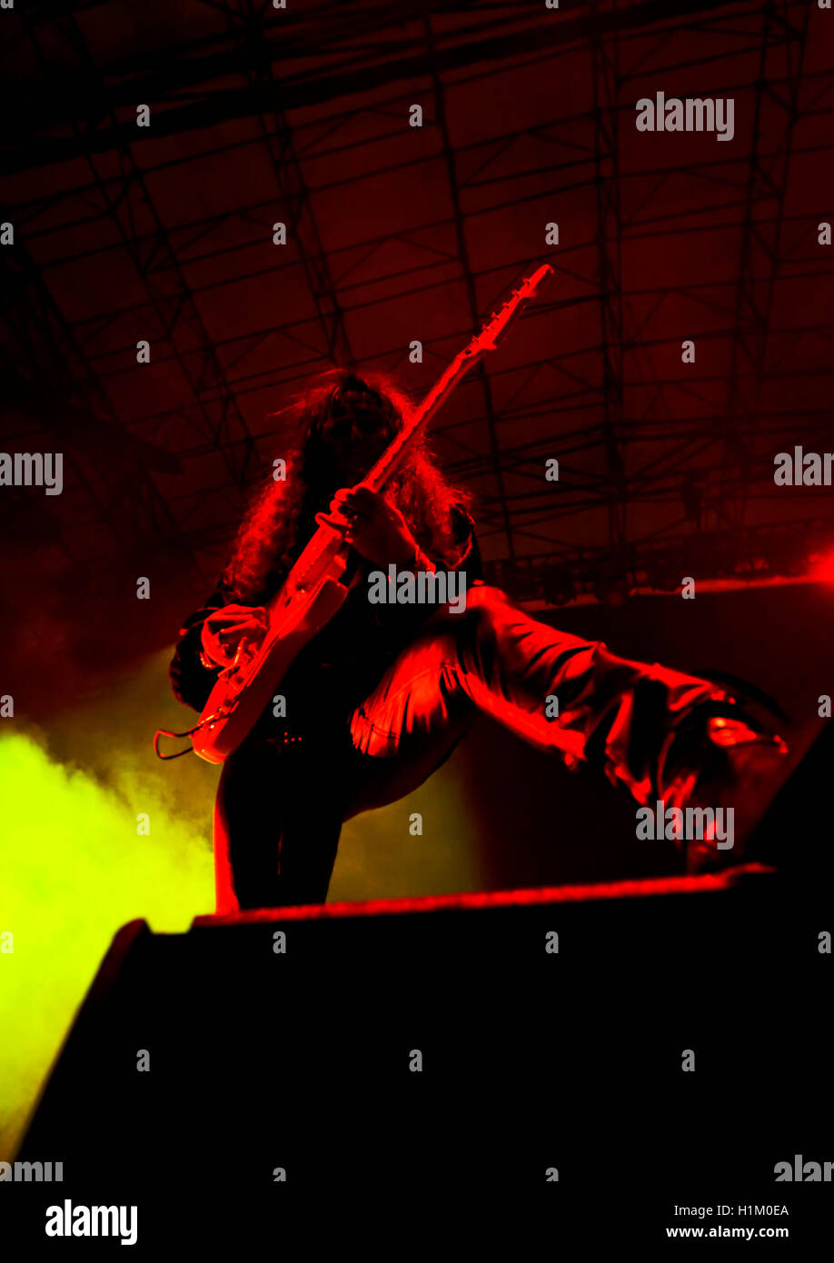 September 17, 2016, Irvine California, Yngwie Malmsteen on stage at the Sirius XM Hair Nation Fest - Stock Image