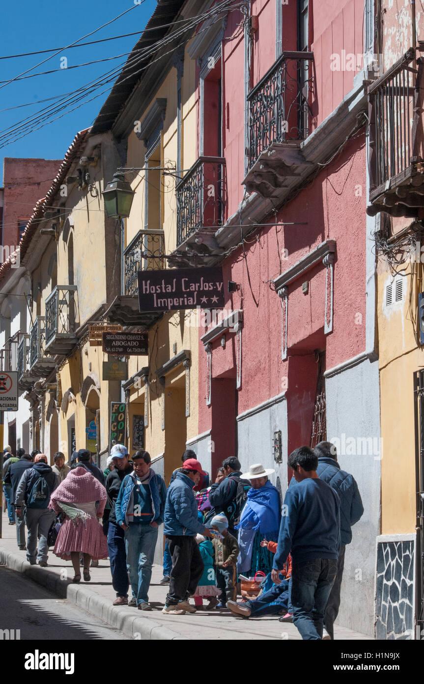 Street scene in Potosi, Bolivia - Stock Image