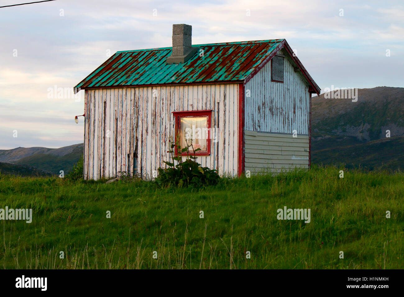 Impressionen:  Haus, Vesteralen, Norwegen. - Stock Image