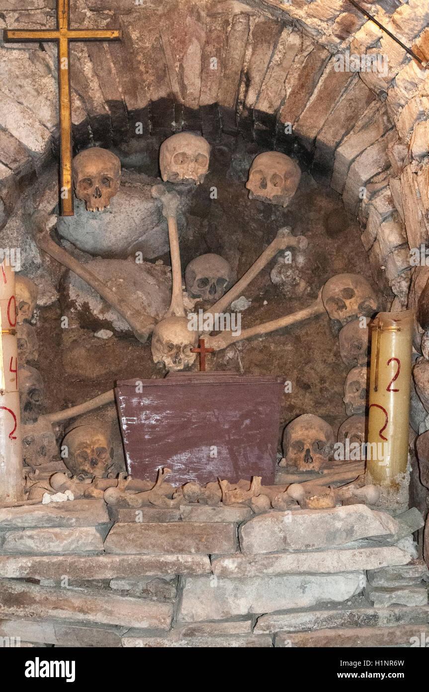 Catacombs of the Convento San Francisco, Potosi, Bolivia - Stock Image
