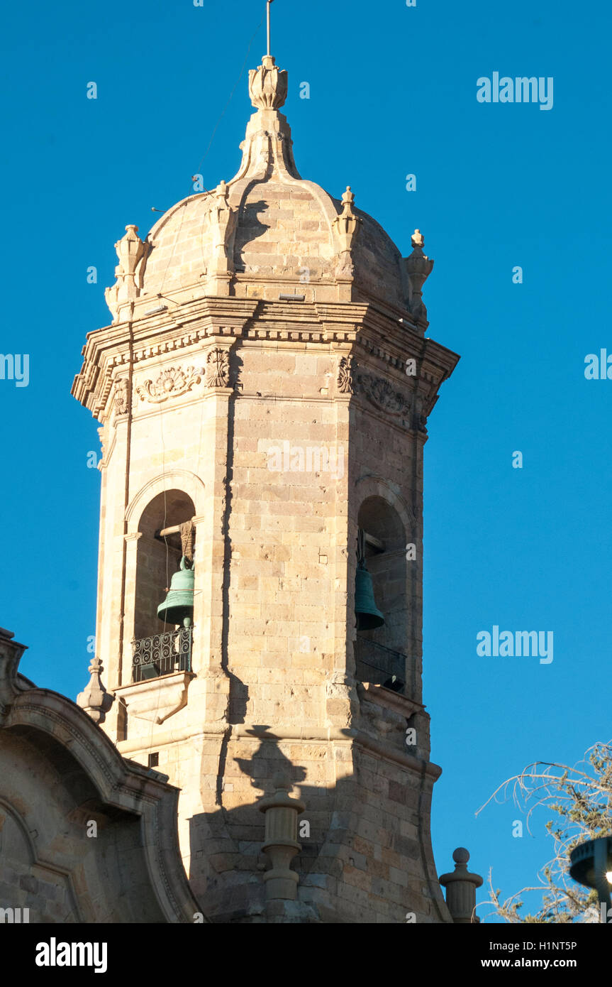 Belltower of the Cathedral, Potosi, Bolivia - Stock Image