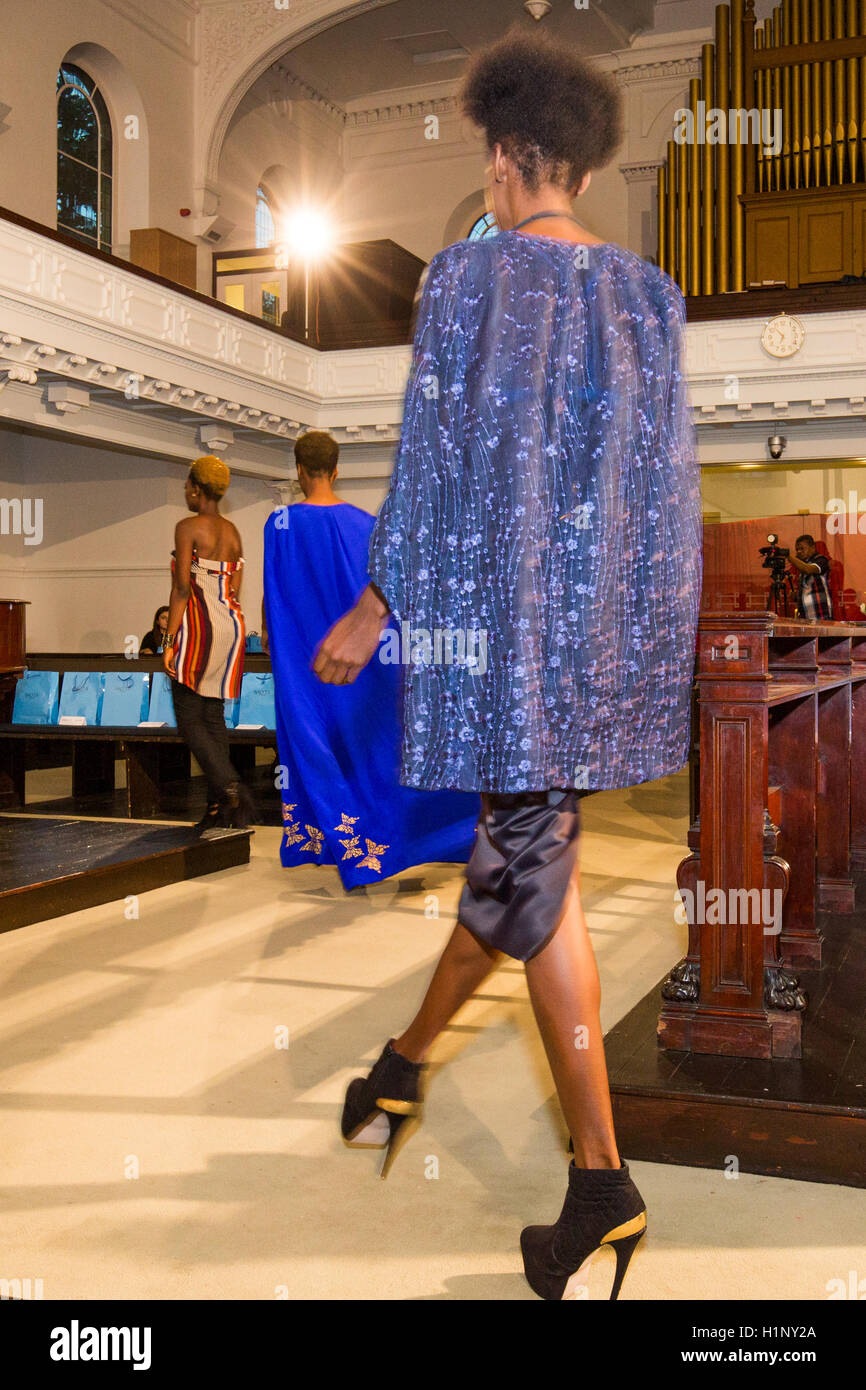 models during the runway test before the BAO TA collection held at the Kensinghton Reformed Church on 17 September - Stock Image