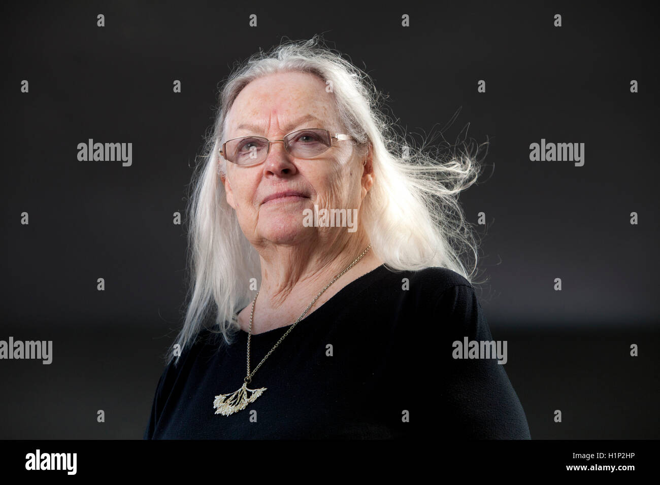 Gillian Clarke, the Welsh National poet and playwright, at the Edinburgh International Book Festival. Edinburgh, - Stock Image