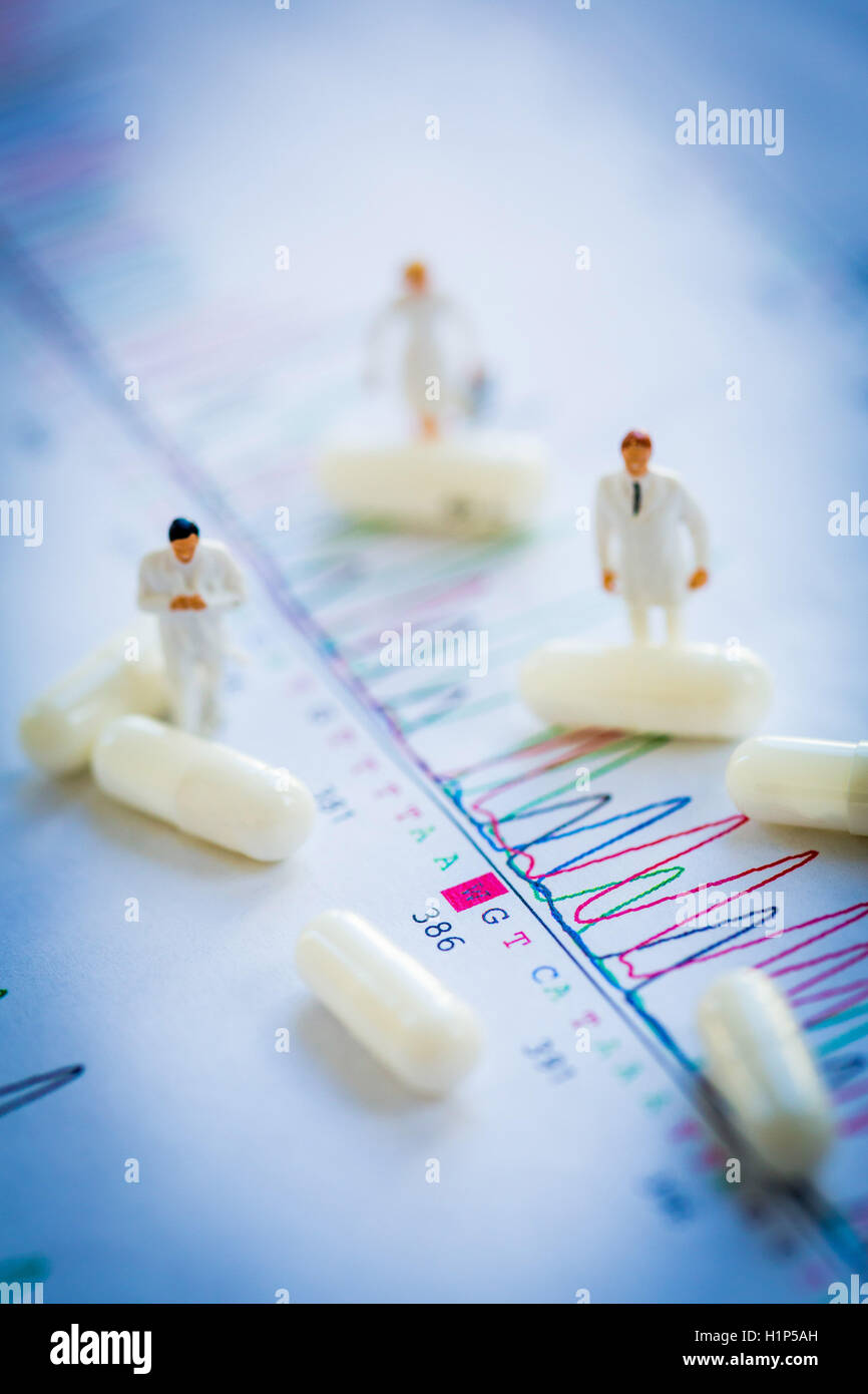 Gene therapy. - Stock Image